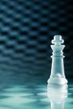 Regina di vetro di scacchi Immagini Stock Libere da Diritti