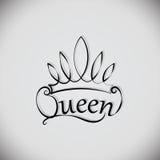 Regina e la corona emblema Fotografia Stock
