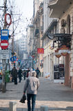 Regina Elisabeta boulevard walk Royalty Free Stock Image