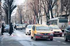 Regina Elisabeta street traffic Royalty Free Stock Image