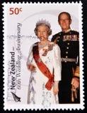 Regina Elizabeth e principe Philip Immagine Stock Libera da Diritti