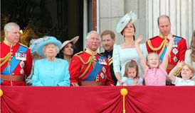 Regina Elizabeth, Londra, Regno Unito, il 9 giugno 2018 - Meghan Markle, Princ immagine stock libera da diritti