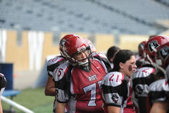 Regina Riot  vs Edmonton Storm. WWCFL Stock Photo