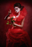 Regina rossa immagine stock