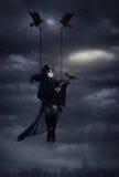 Regina scura del corvo immagini stock libere da diritti