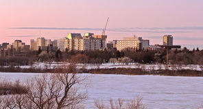 Regina Skyline. On a cold winter day Stock Photos