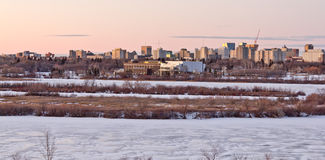 Regina Skyline. On a cold winter day Royalty Free Stock Image