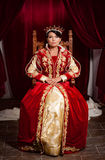 Regina in un castello medievale fotografia stock