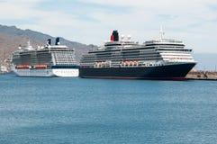 Regina Victoria di Cunard e riflessione della celebrità Fotografia Stock Libera da Diritti