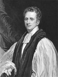 Reginald Heber. (1783-1826) on engraving from the 1800s. Church of England's Bishop of Calcutta. Engraved by T.Woolnoth from a painting by T.Phillips Royalty Free Stock Photography