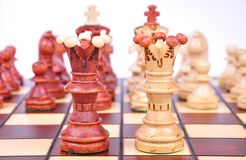 Regine di scacchi Fotografie Stock