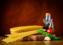 Κίτρινα ζυμαρικά Reginette Lasagne Στοκ φωτογραφίες με δικαίωμα ελεύθερης χρήσης