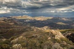 Regino valley and Lac de Codole in Balagne region of Corsica Stock Image