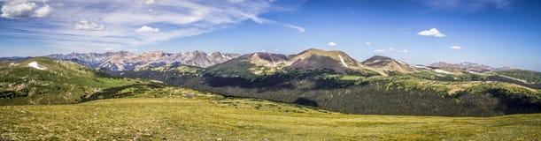 Região selvagem do verão de Rocky Mountain National Park Never Fotos de Stock