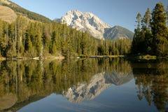 Região selvagem grande de Teton reflexiva Imagem de Stock Royalty Free