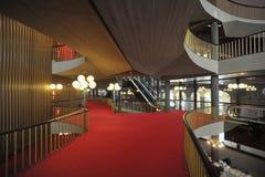 Regio theatre of Turin intern view of corridors and stairs. Design by Carlo Mollino Stock Photo