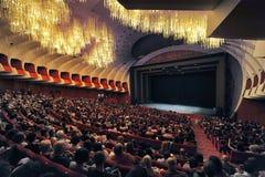 Regio theatre of Turin intern view of main hall stock photos