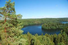 Region av tusen sjöar arkivfoton