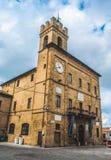 Region Castelfidardo - Markens - Ancona-Provinz - das comune Gebäude und internationale das Akkordeon-Museum stockbild