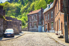 Region of Dinant, street of typical life Stock Photo