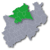 Region and district of Münster. Münster region and government district royalty free illustration