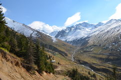 Region för bergdal, Black Sea, Turkiet Royaltyfria Bilder