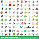 100 region icons set, isometric 3d style. 100 region icons set in isometric 3d style for any design vector illustration vector illustration