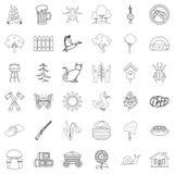 Region icons set, outline style. Region icons set. Outline style of 36 region vector icons for web  on white background Royalty Free Stock Photos