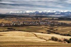 Region Orava, Slovakia. Beautiful landscape in region Orava. High Tatras mountains at background stock photo