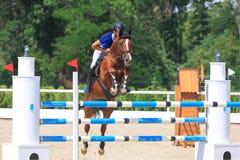 REGION TAGANROGS, ROSTOV-ON-DON, AM 6. AUGUST 2017: Wettbewerbe im Reitersport, gewidmet dem Tag der Befreiung des Neklinov Lizenzfreie Stockfotos