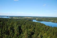Region tysiąc jezior Zdjęcia Royalty Free