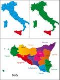 Region Włochy - Sicily royalty ilustracja