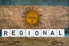 Regionaal concept, Argentinië stock afbeeldingen