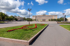 The regional administration building in Novgorod Stock Photography