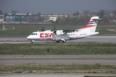Regional aircraft - ATR Stock Photo