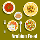 Regional arab cuisines dishes flat icon Royalty Free Stock Photos