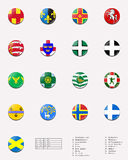 Regional and cities' flags ball of UK 1/2 Stock Photography