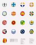 Regional and cities' flags ball of UK 2/2 Stock Photos