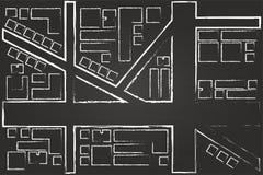 Regional City Map Drawing Stock Photos