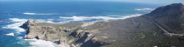 Regional como la vista del tiro ancho panorámico del punto del cabo Imagen de archivo libre de regalías