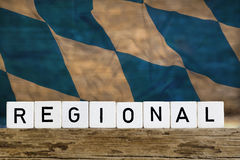 Regional concept with Bavarian flag Stock Photography