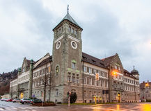 Regional Court of Feldkirch. Austria Stock Photos