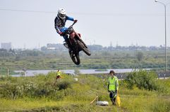 Regional cross-country race competitions in Tyumen 02.08.2014. Stock Photo