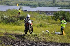 Regional cross-country race competitions in Tyumen 02.08.2014. Stock Images