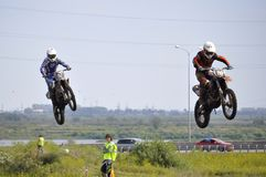 Regional cross-country race competitions in Tyumen 02.08.2014. Royalty Free Stock Photography