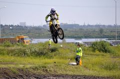 Regional cross-country race competitions in Tyumen 02.08.2014. Stock Image