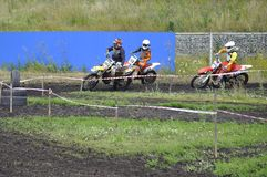 Regional cross-country race competitions in Tyumen 02.08.2014. Royalty Free Stock Image