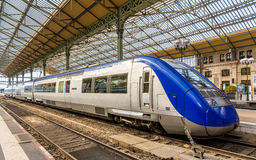 Regional express train at Tours station Royalty Free Stock Image