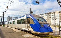 Regional express train at Tours station Royalty Free Stock Photography