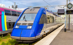 Regional express train at Tours station Stock Photo